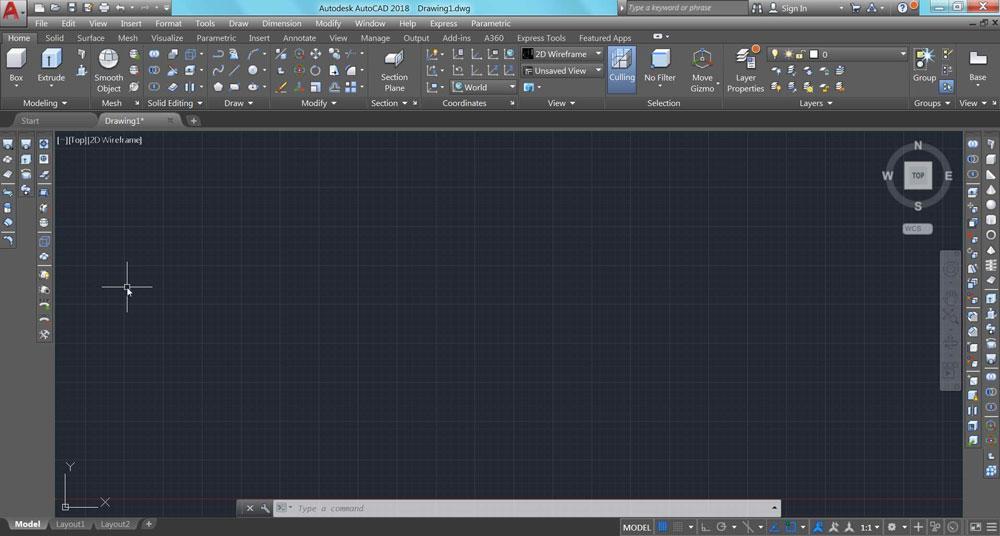 حذف یا اضافه کردن نوار ابزارها در صفحه اصلی اتوکد