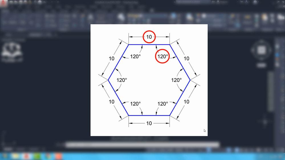 01 دستور Polygon در اتوکد- تعریف چندضلعی منتظم